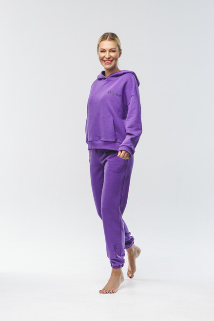 """Why not...""  Track Suit in violet"