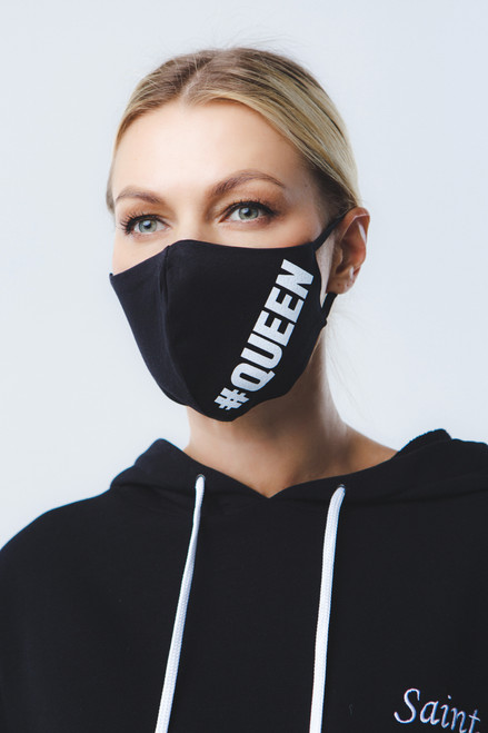 Queen of everything mask in  black