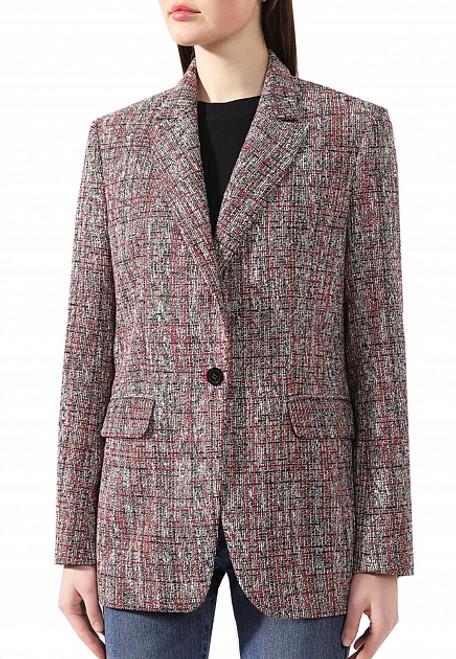 Red Textured Jacket