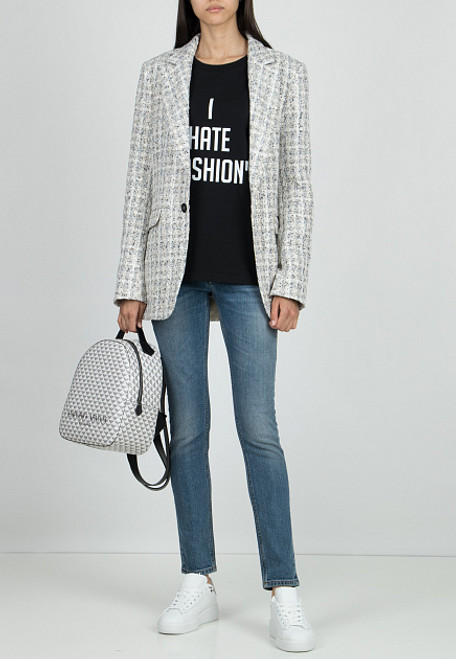 """Black T-shirt """"I hate Fashion"""""""