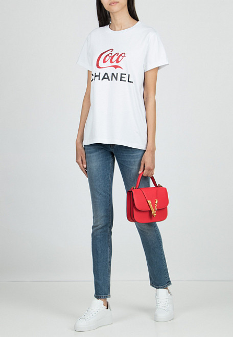 "White T-Shirt ""Coco Chanel"""