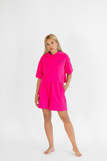 "Fuchsia Longsleeve with shorts ""In love"""