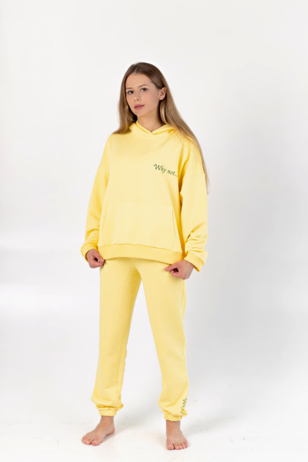 """Yellow track suit """"Why not"""""""