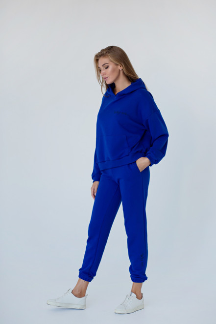 """Cornflower blue track suit """"Why not ..."""""""