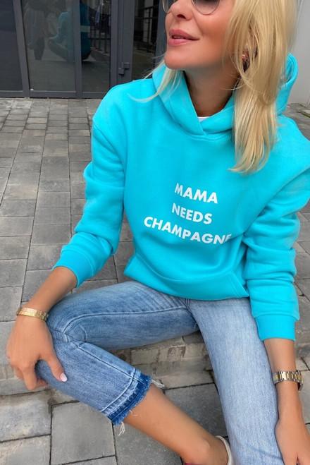 Flees light blue hoodie