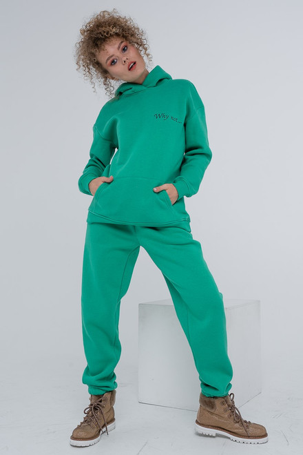 "Green flees track suit ""Why not..."""