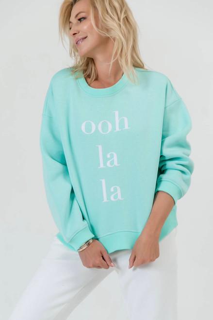 Mint flees sweatshirt