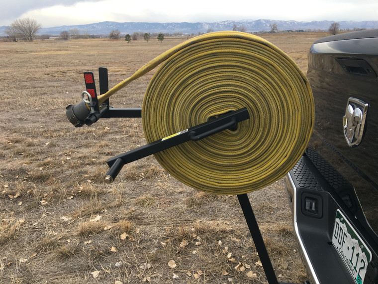 Rolling fire hose just became fun! Use the MC 65 with the trailer hitch, not included, and make short work of that pile of dirty hose.