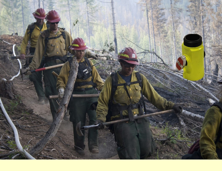 USDA photo by David Kosling-High Viz T Valves are a MUST on the fireline