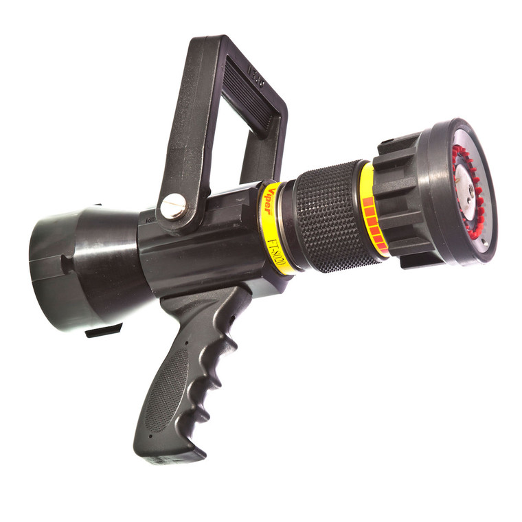 """80 - 200 GPM 2 1/2"""" automatic nozzle with pistol grip"""