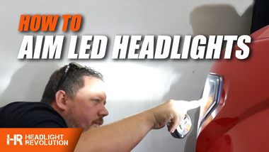 How To Properly Aim LED Headlights!