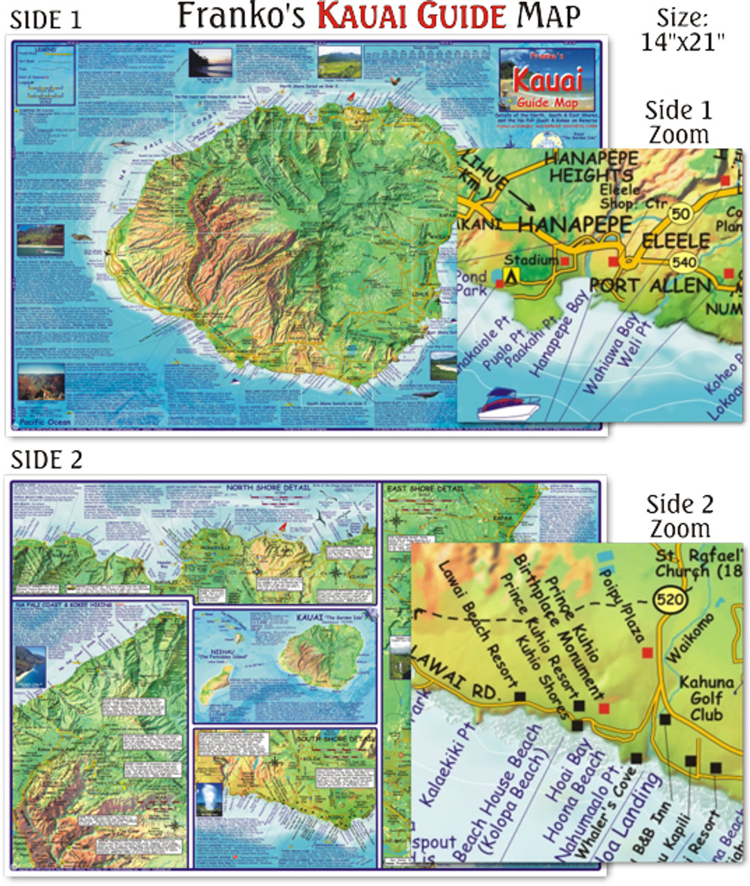 Kauai Guide Map (Laminated) on map of glasgow, map of johannesburg, map of cedar rapids, map of miami, map of madrid, map of lansing, map of norfolk, map of new york, map of salt lake city, map of kona, map of lanai city, map of porto, map of florence, map of kahului, map of ontario, map of hilo, map of honolulu, map of singapore, map of hawaiian islands, map of cancun,