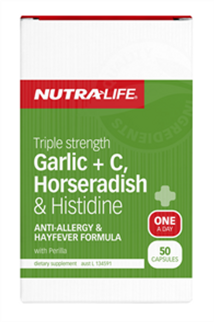 NUTRALIFE Garlic + C, Horseradish + 50c RRP $ 23.99