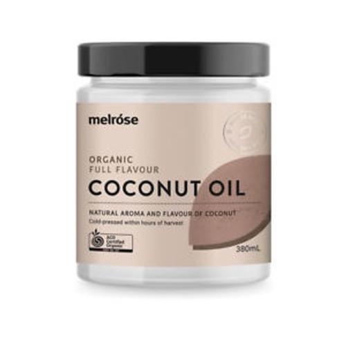 MELROSE Organic Full Flavour Coconut Oil 325ml