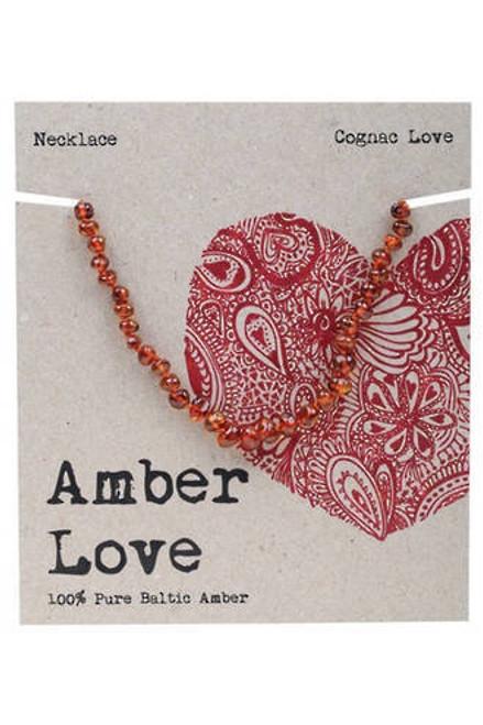 Amber Love Necklace Cognac Childrens