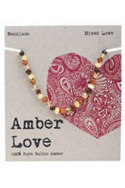 Amber Love Necklace Mixed Children