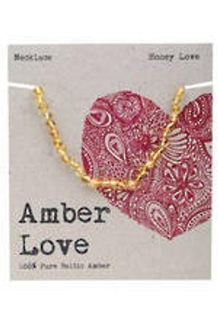 Amber Love Necklace Honey Childrens
