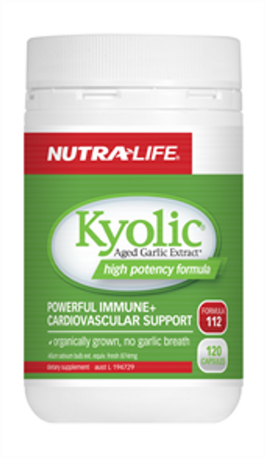 NUTRALIFE Kyolic Garlic High Potency 60c RRP $33.99