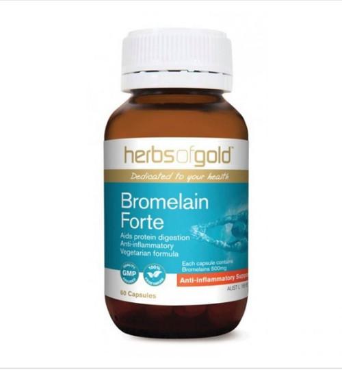 HERBS OF GOLD Bromelain Forte 60c RRP $45.95