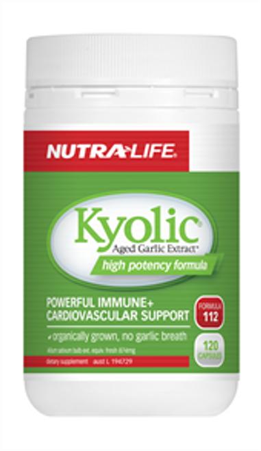 NUTRALIFE Kyolic Garlic High Potency 120c RRP $59.99