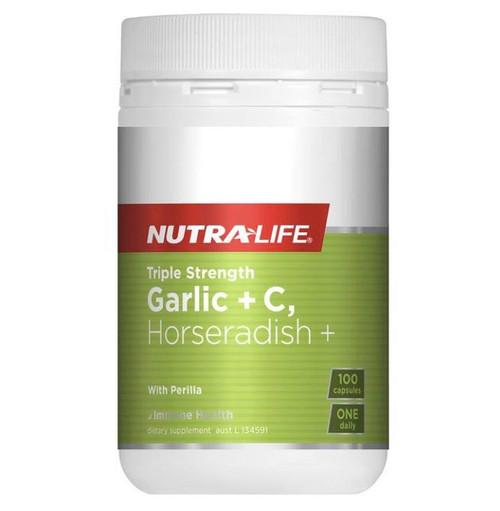 NutraLife Garlic + C & Horseradish 100c RRP $34.99