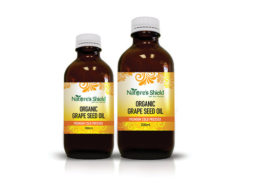 Nature's Shield Organic Grape Seed Oil 200ml