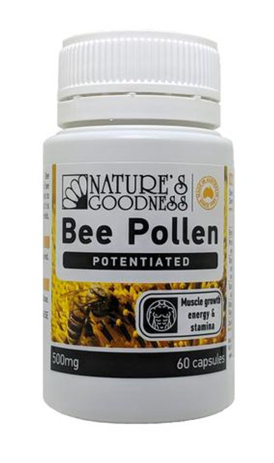 Nature's Goodness Bee Pollen Potentiated (Activ) 500mg 60c