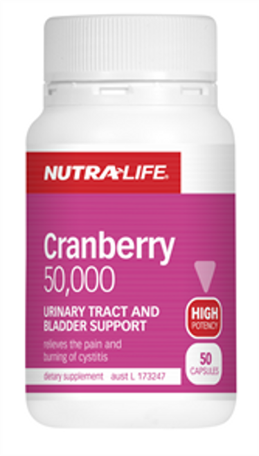 NUTRALIFE Cranberry 50,000 50c
