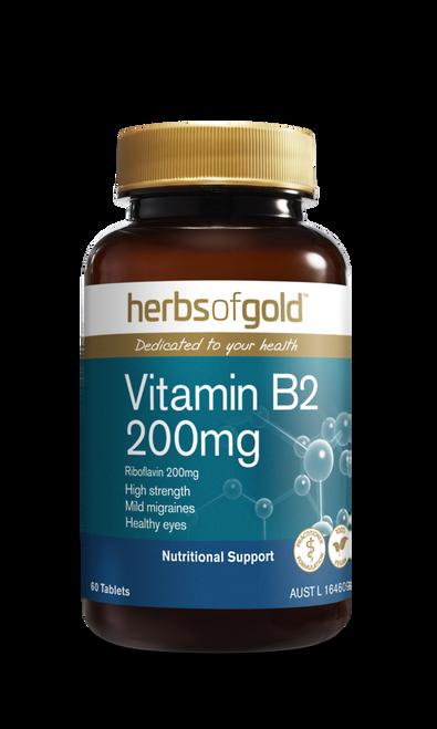 HERBS OF GOLD Vitamin B2 200mg 60t RRP $29.50