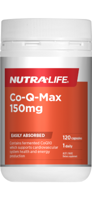 NUTRALIFE Co-Q-Max 150mg 120c RRP $86.99