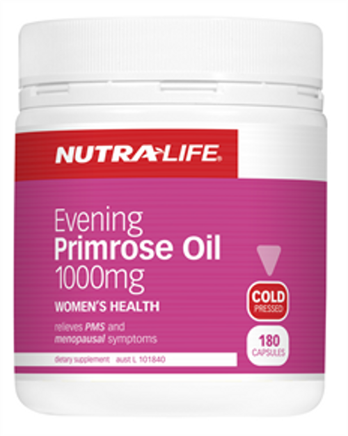 NUTRALIFE Evening Primrose Oil 1000mg 180c RRP $36.99