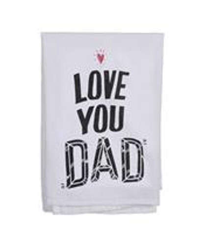 "Primitives By Kathy ""Love You Dad"" Bar/Dish Towel"