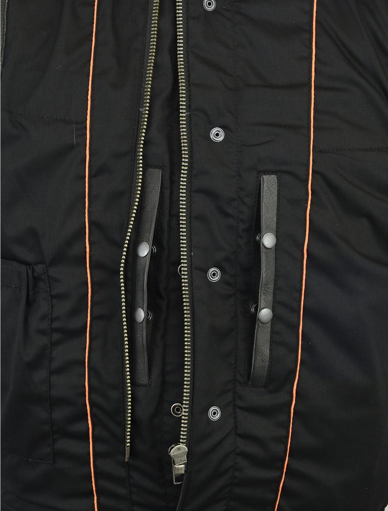 Concealed Snaps, Premium Cowhide, Removable Hood