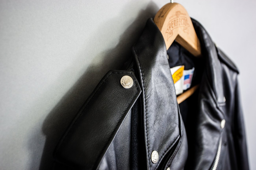 118 Classic Perfecto Leather Motorcycle Jacket