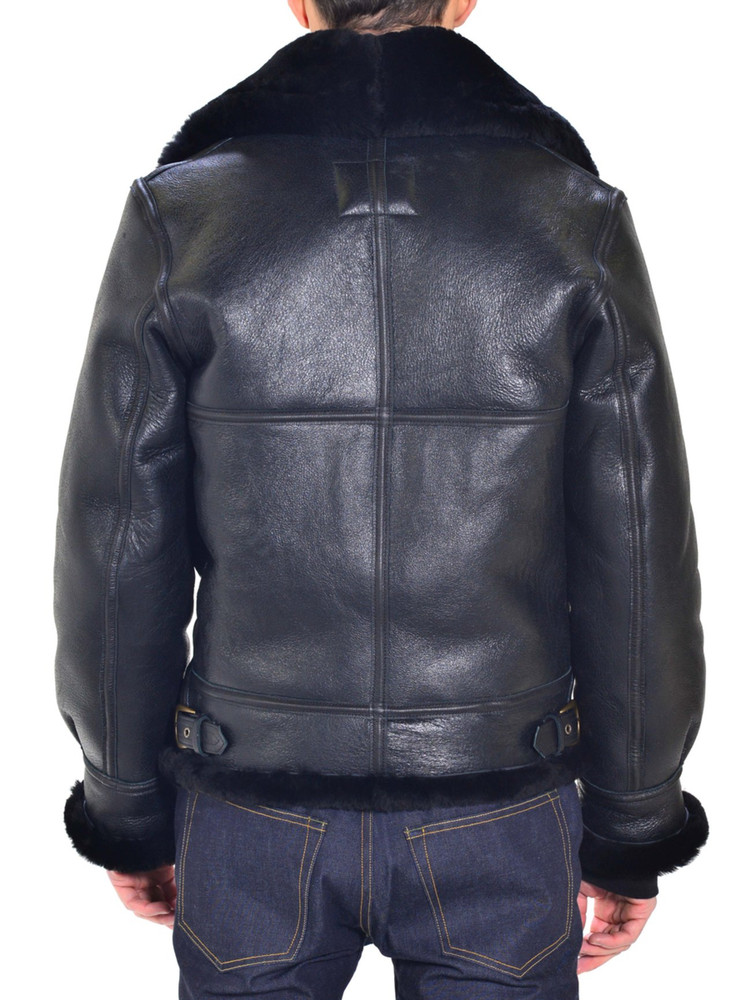 Sheepskin B-3 Flight Jacket black