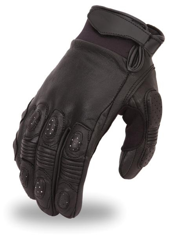 Men Crossover race leather gloves