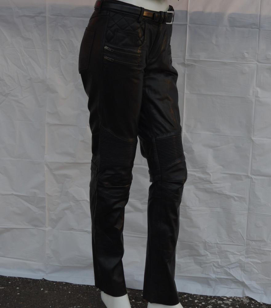Women Vixen Detailed  Leather Jean Pants