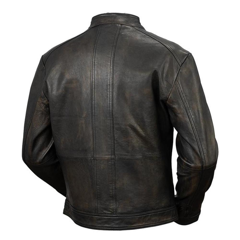 Men cruiser distressed lambskin leather