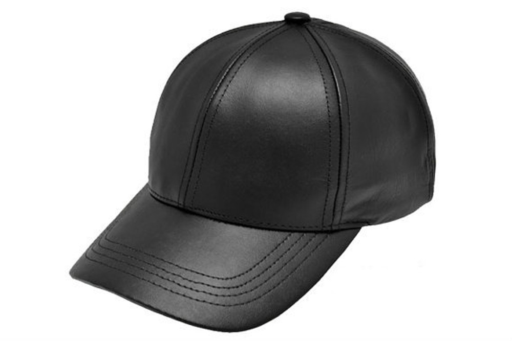 Leather Baseball Cap Fitted  Made in USA