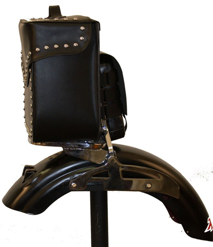 LEATHER STUDDED SISSY BAR BAG FBA8101 CLEARANCE!