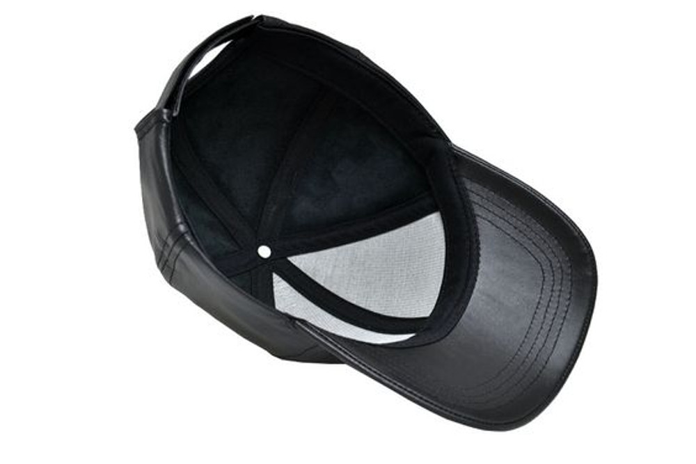 Genuine Cowhide Leather Baseball Cap Adjustable