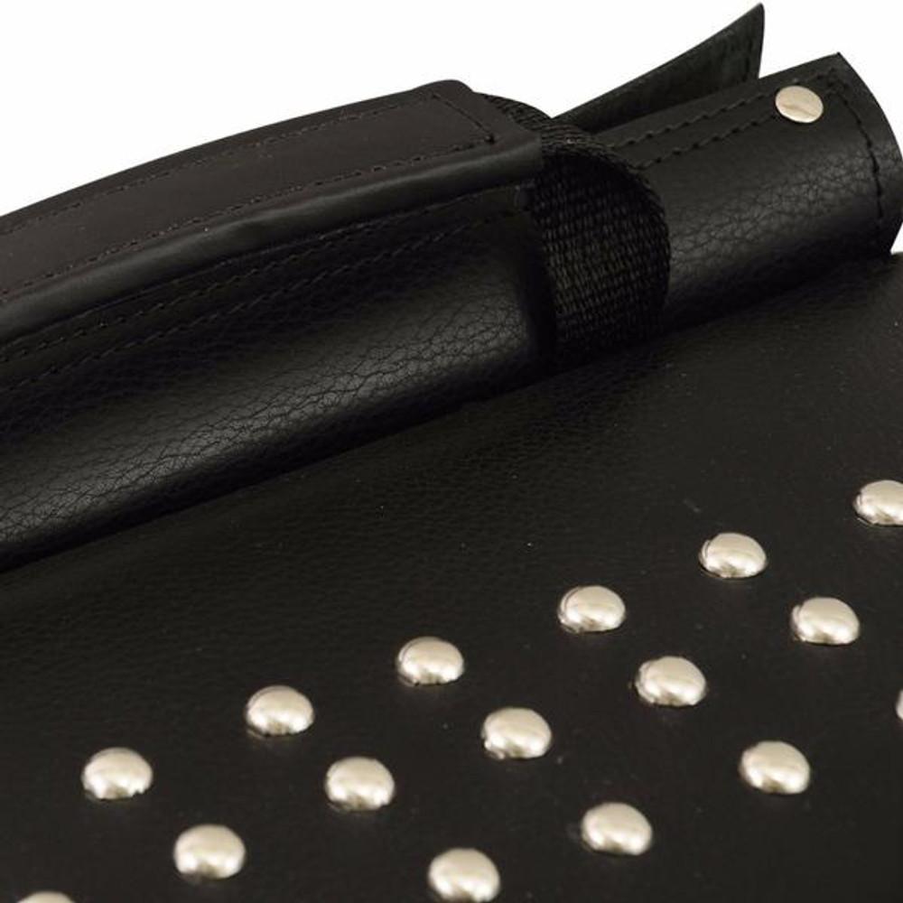 Leather Throw Over Large Studded Saddle Bag