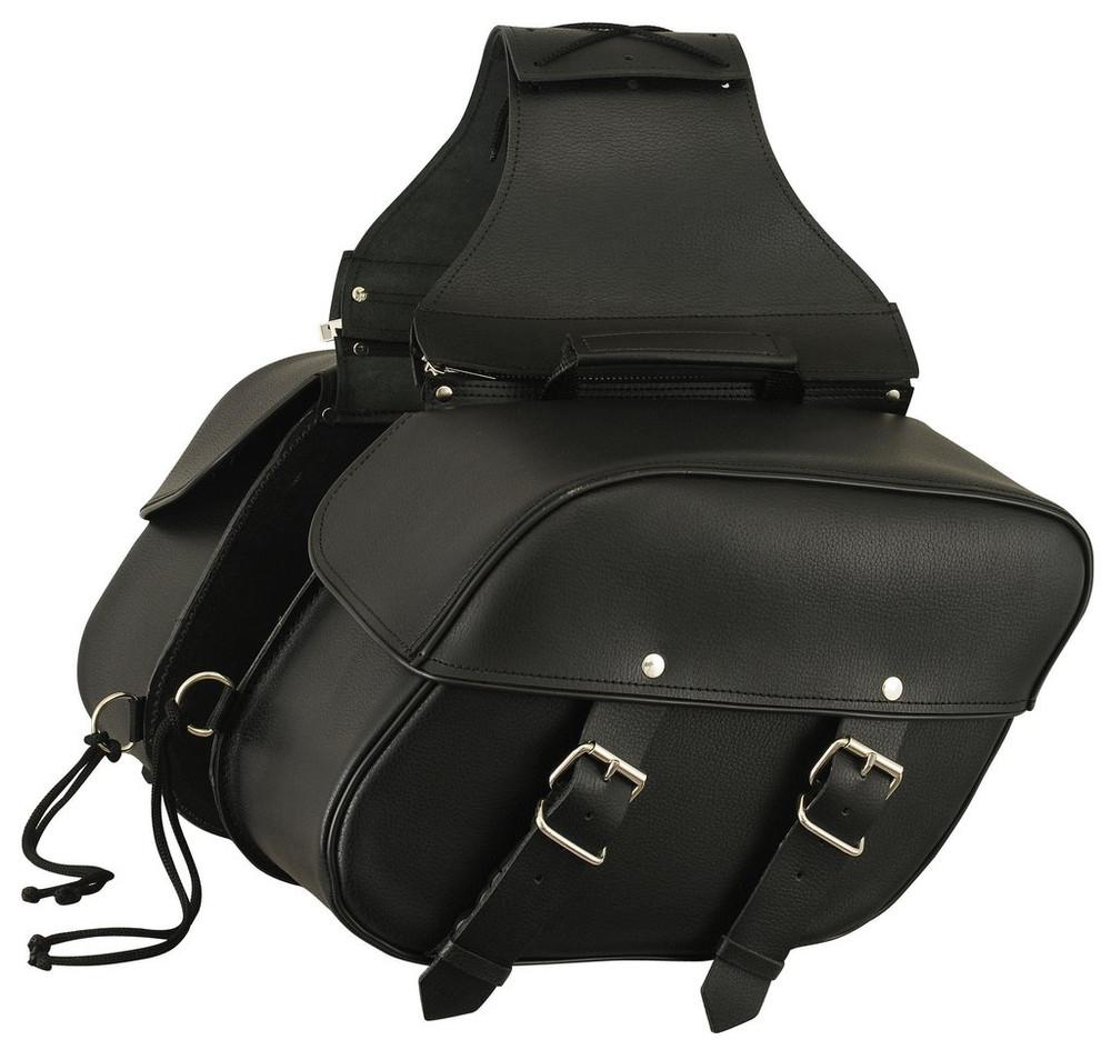 Leather Throw Over Saddle Bag  8008