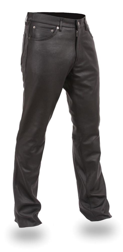 Men's 5 Pocket Leather Pant Commander