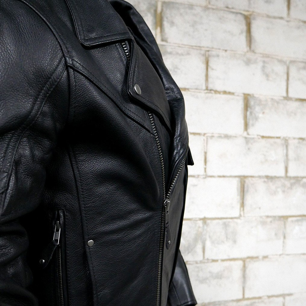 Major Ego heavy duty motorcycle leather jacket