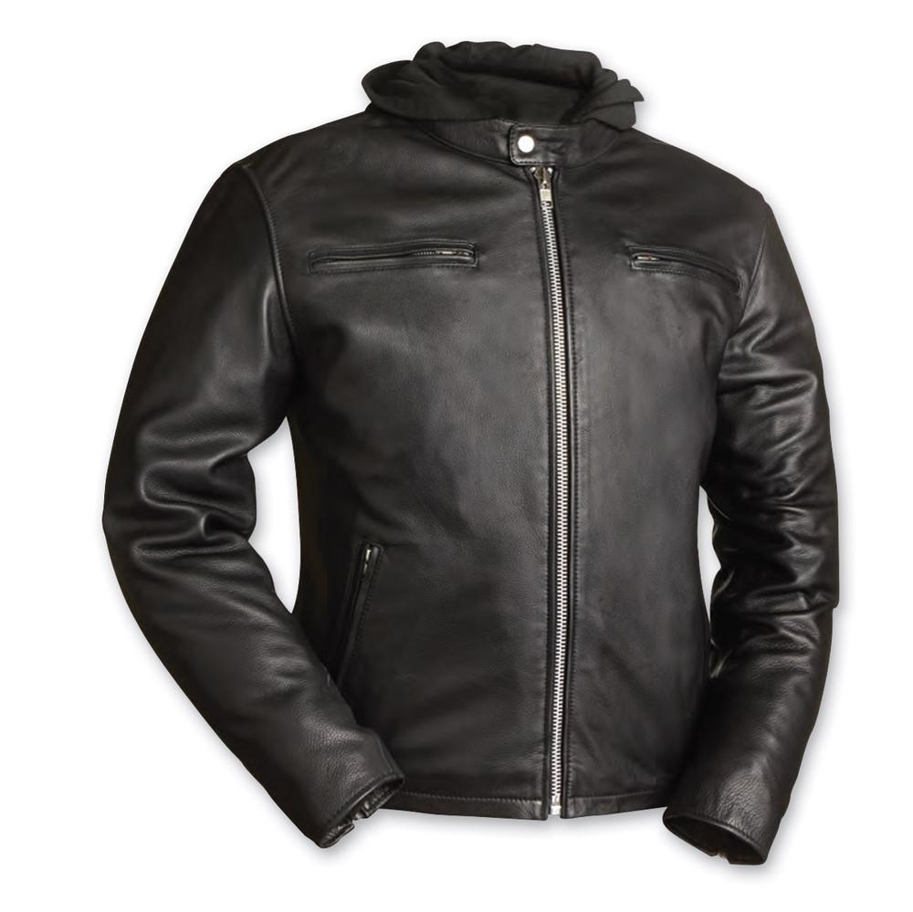 Men's Street Cruiser  Black Leather Jacket