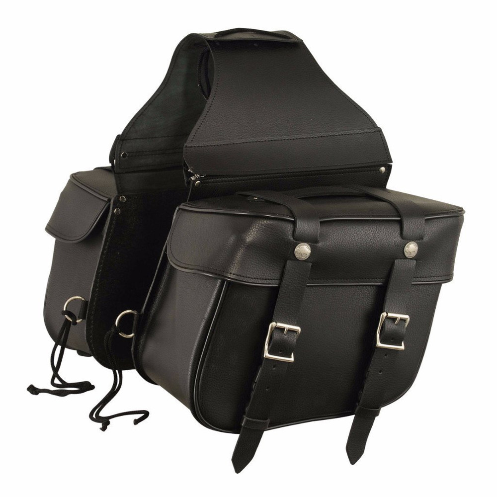 Throw Over Leather Motorcycle Saddlebag 8000