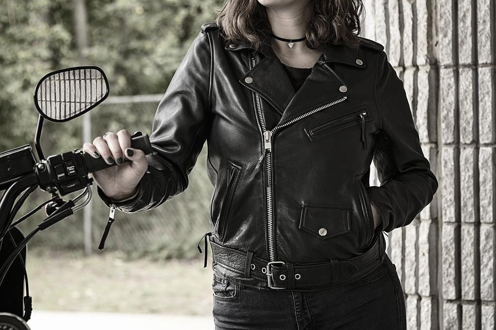 Rockstar - Women's Motorcycle Leather Jacket