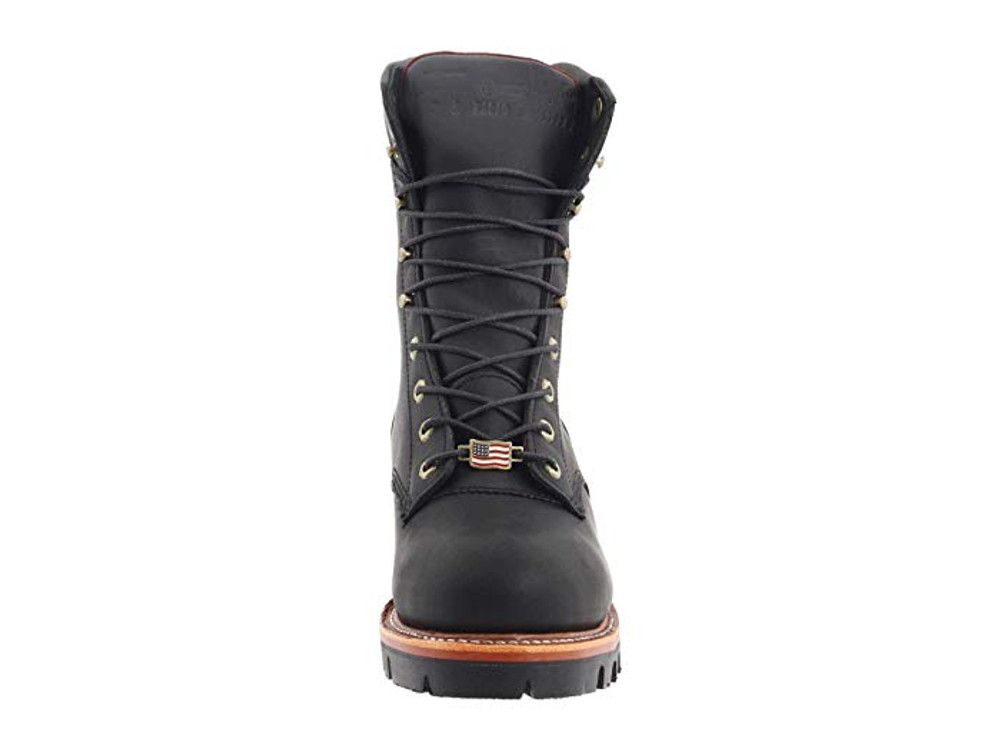 "Chippewa Insulated Waterproof Super Logger 9"" Work Boots - Steel Toe Black"