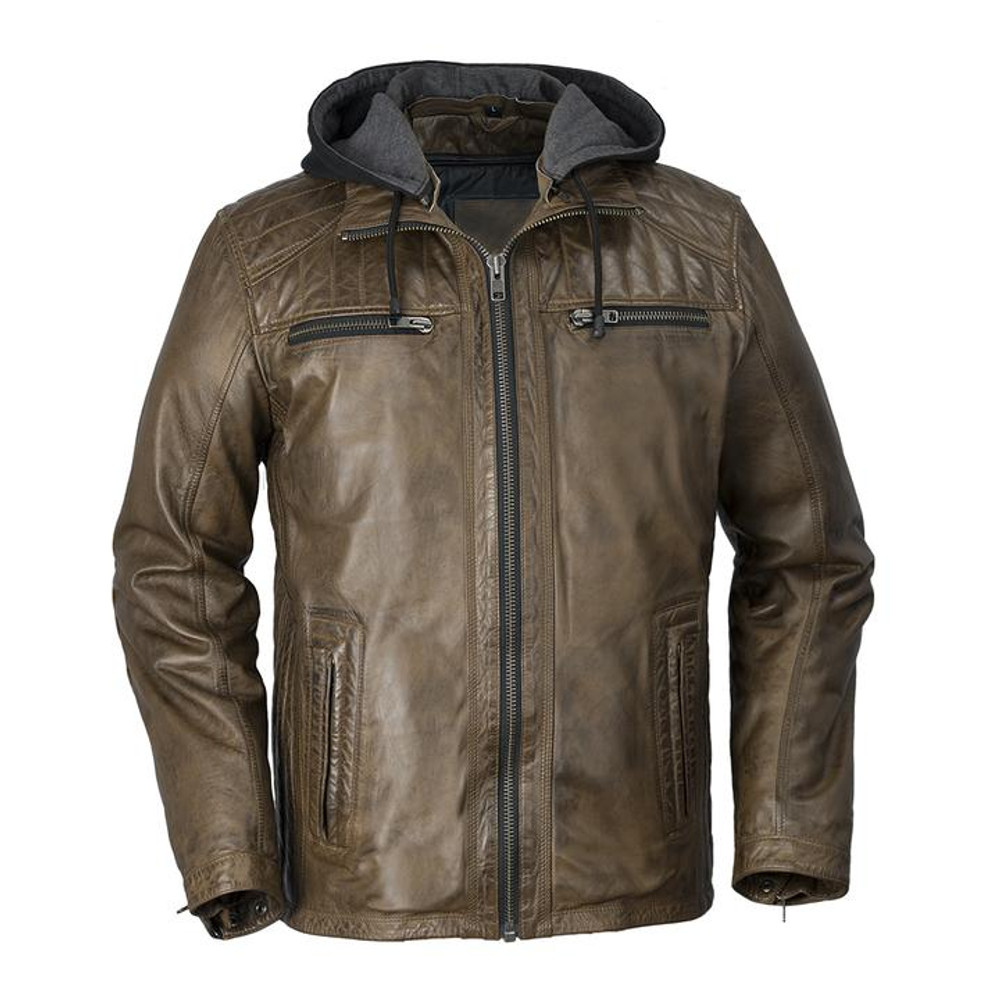 MEN VINTAGE LEATHER JACKET